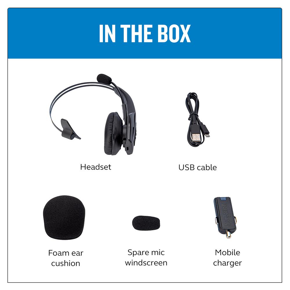 Wholesale cell phone accessory BlueParrott - B350-XT Bluetooth Mono On Ear Headset - Black