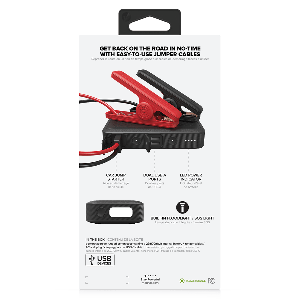 Wholesale cell phone accessory mophie - Powerstation Go Rugged Compact Power Bank 8,100 mAh