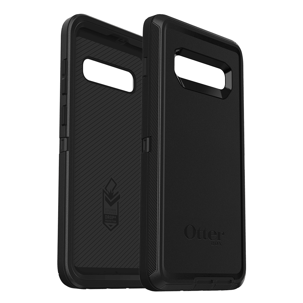 Wholesale cell phone accessory OtterBox - Defender Case for Samsung Galaxy S10 Plus  - Black