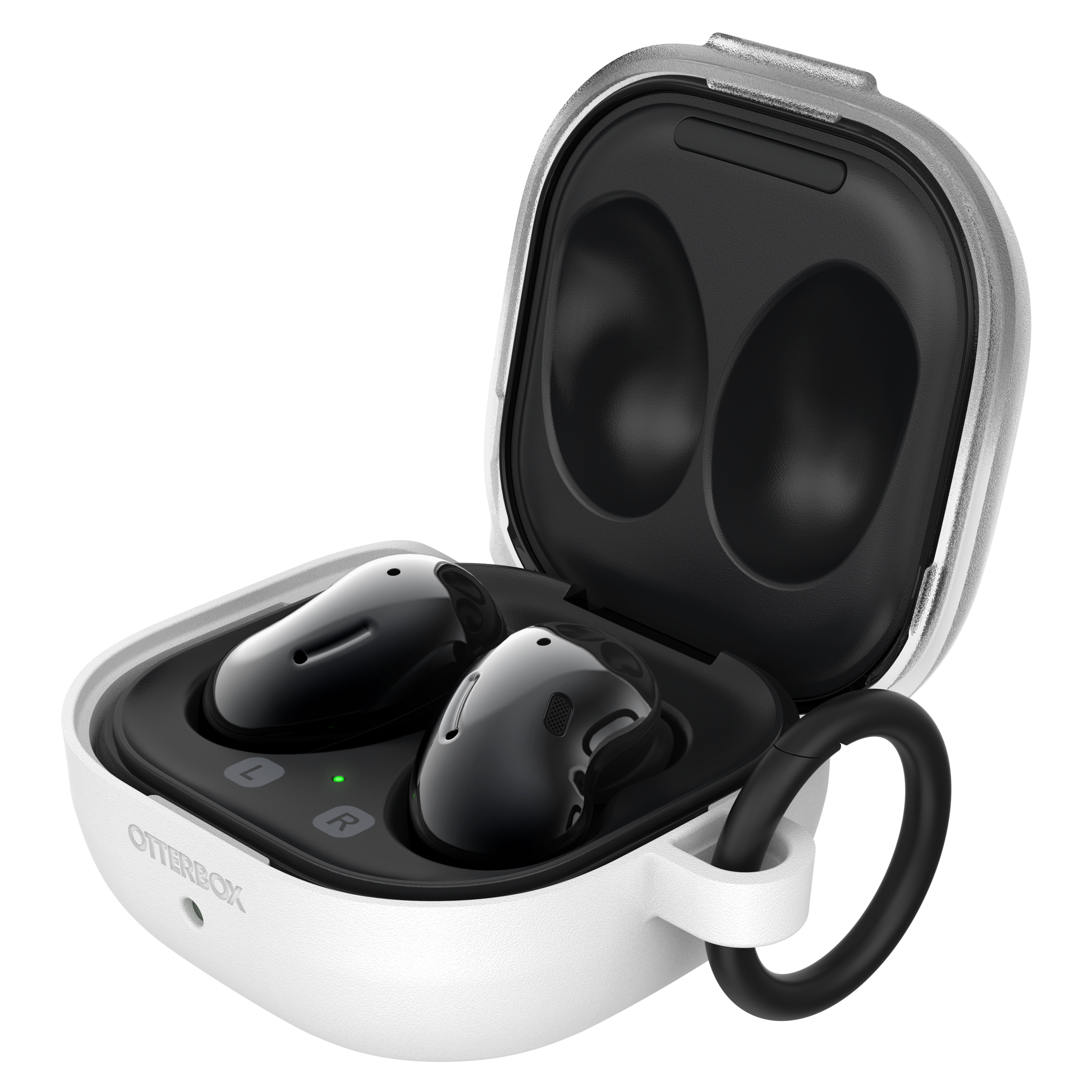 OtterBox - Headphone Case for Samsung Galaxy Buds Pro  /  Live - White Crystal