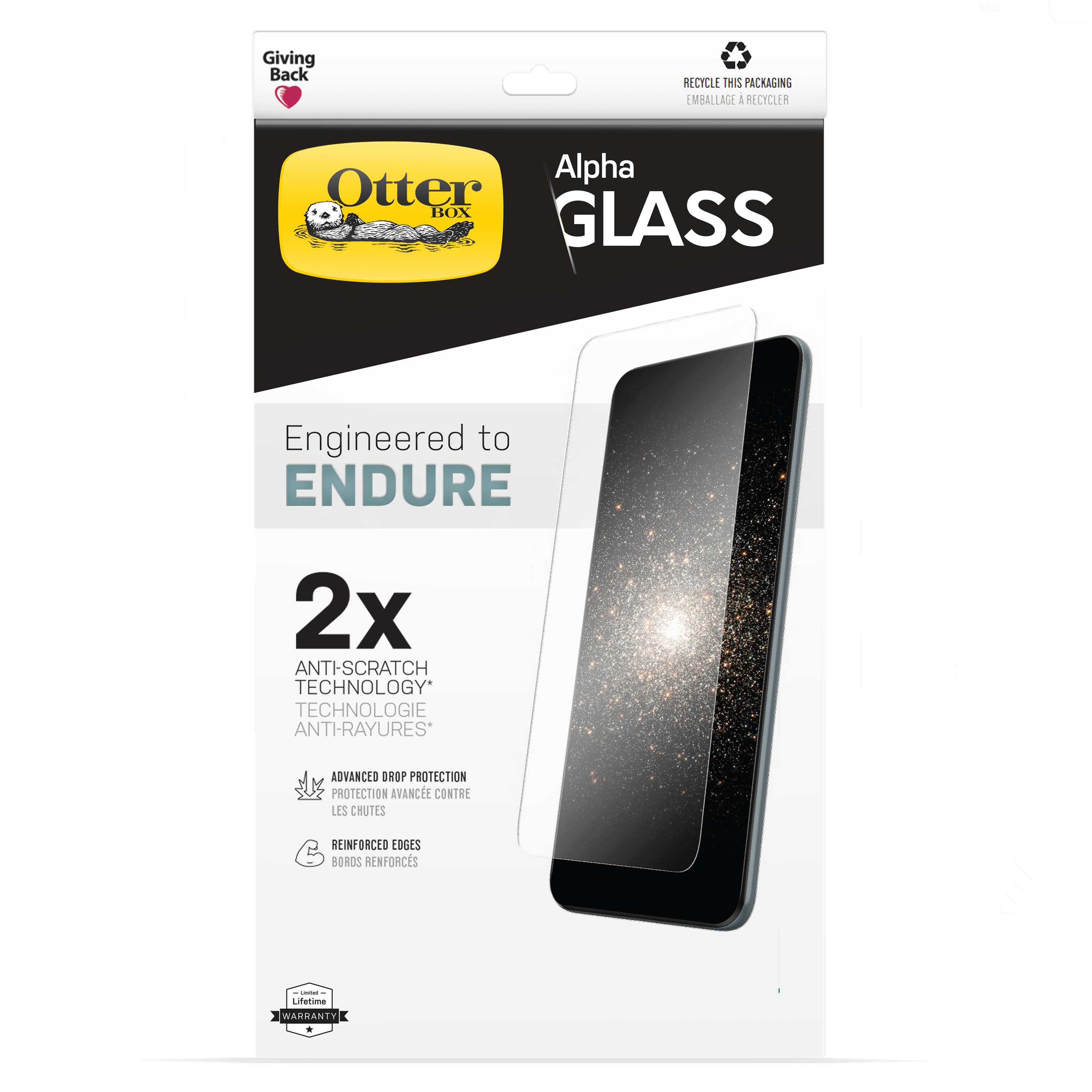wholesale cellphone accessories OTTERBOX ALPHA GLASS SCREEN PROTECTORS