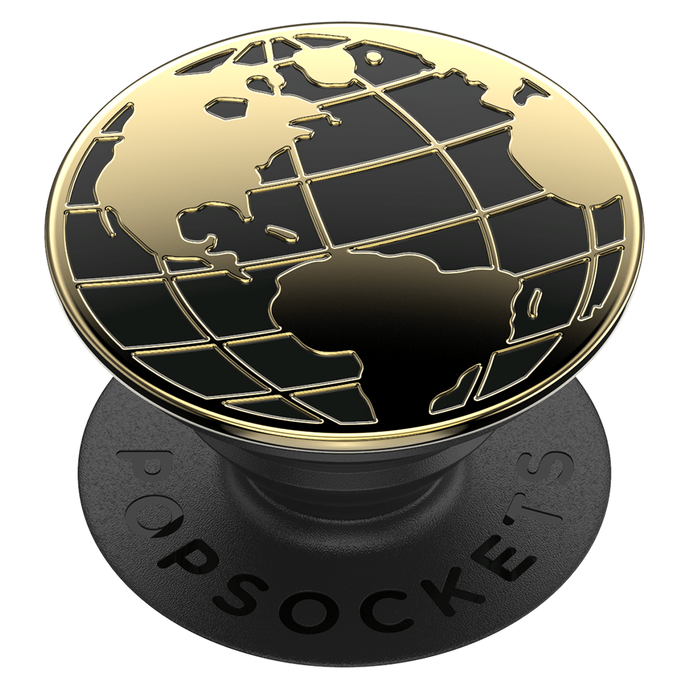 Wholesale cell phone accessory PopSockets - PopGrip Premium - Enamel Globe Trotter