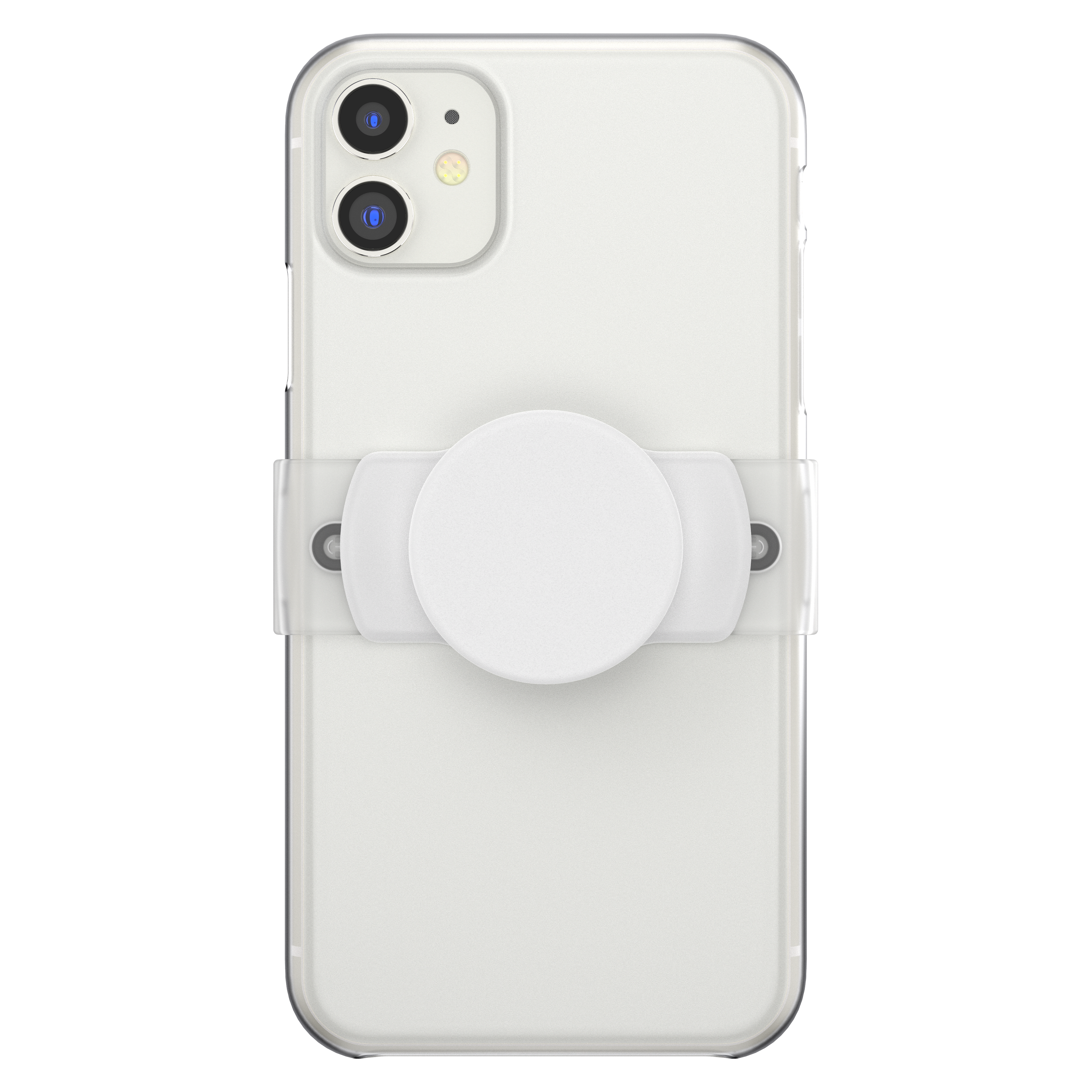 Wholesale cell phone accessory PopSockets - PopGrip Slide Stretch - White and Clear