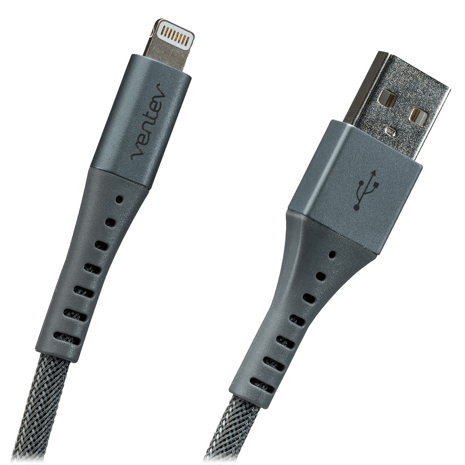 Wholesale cell phone accessory Ventev - chargesync alloy USB A to Apple Lightning Cable 10ft