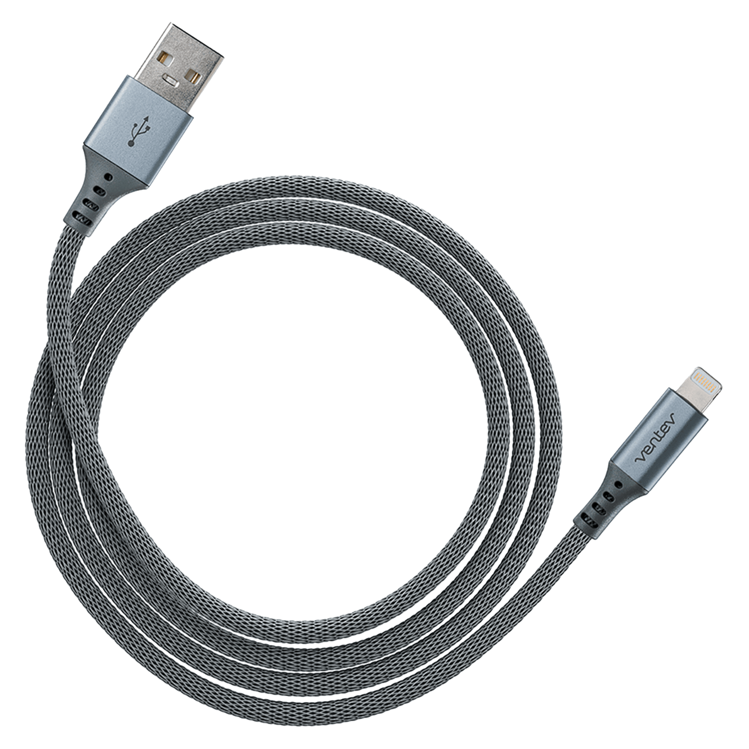 Wholesale cell phone accessory Ventev - chargesync alloy USB A to Apple Lightning Cable 4ft