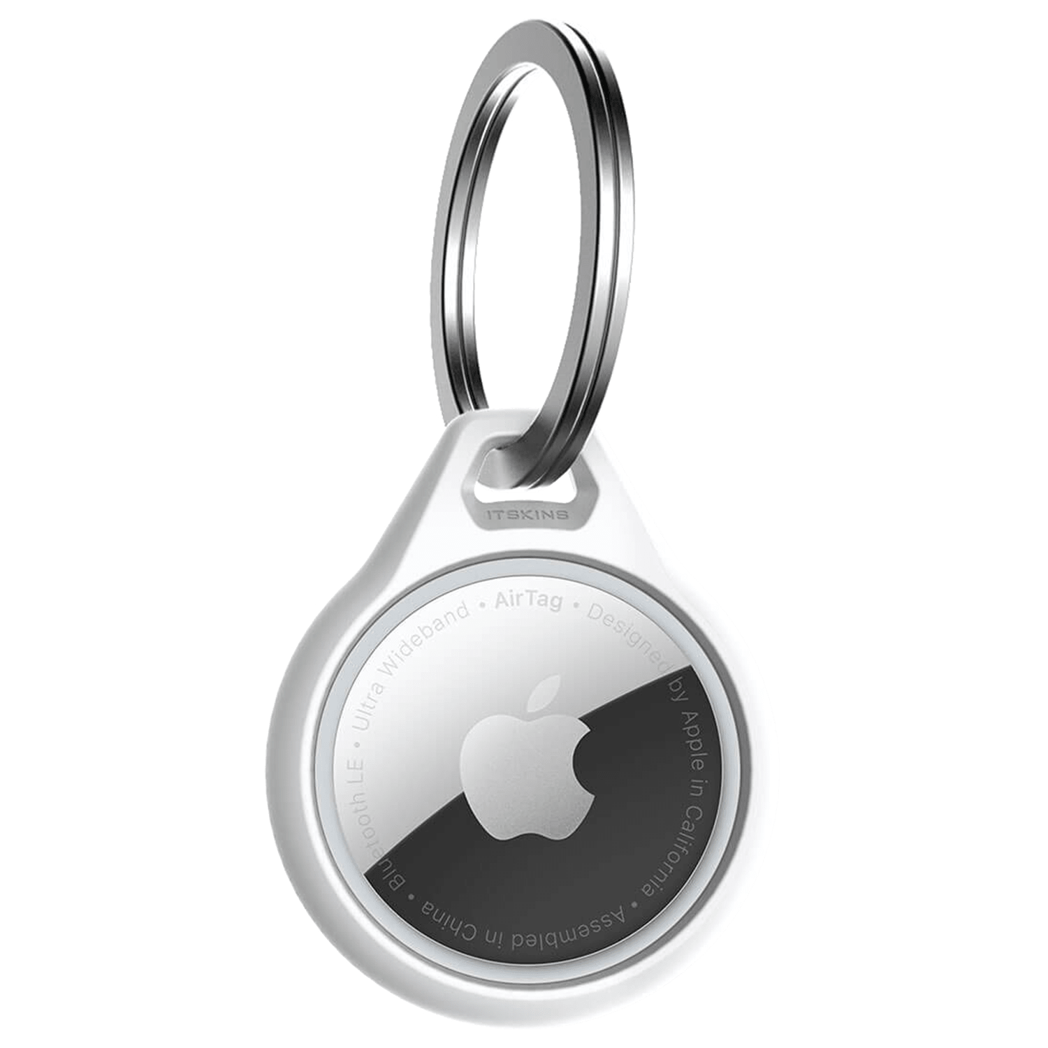 Wholesale cell phone accessory ITSKINS - Air Solid Cover Keychain for Apple AirTag - White