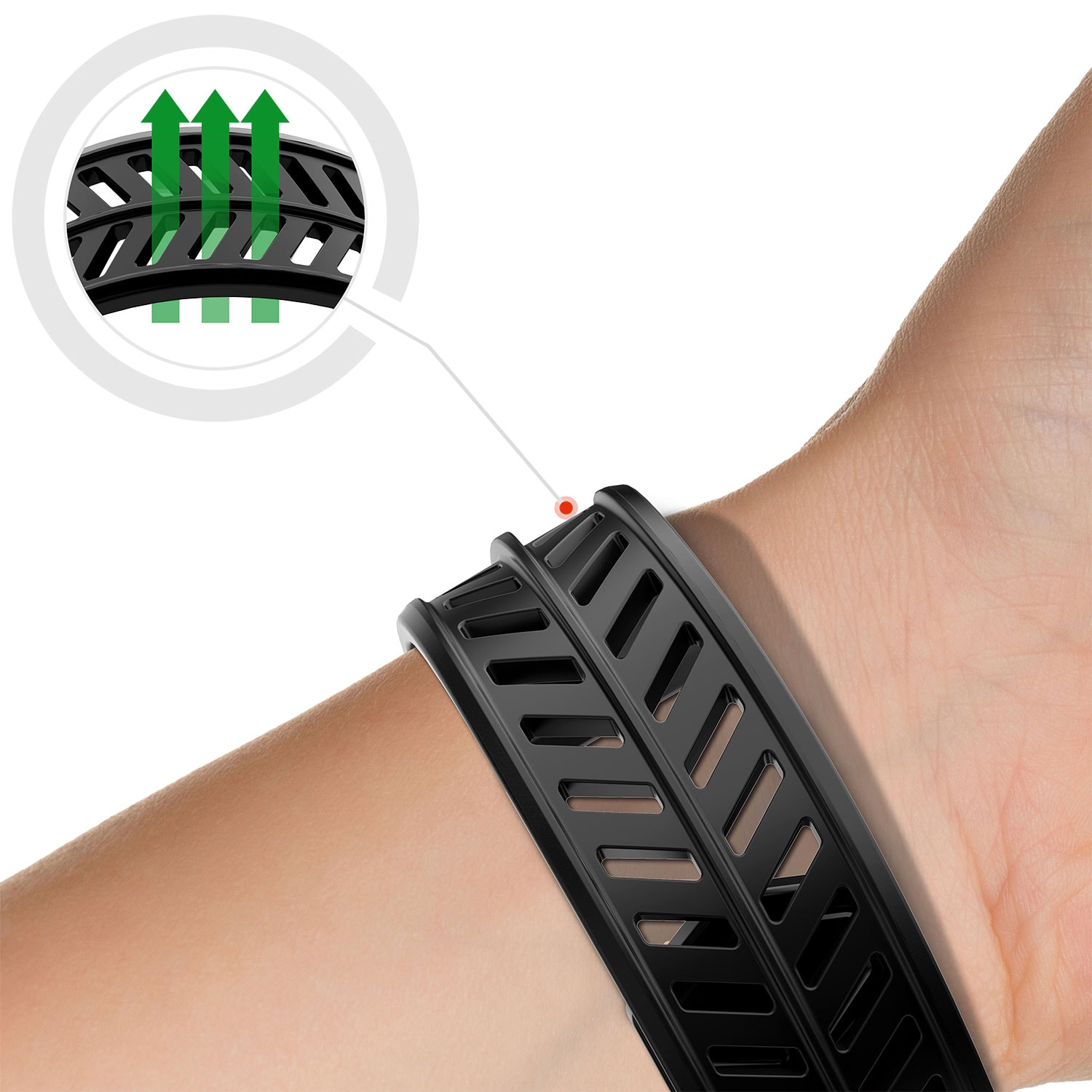 Wholesale cell phone accessory ITSKINS - Spectrum Watch Strap for Apple Watch 44mm - Black