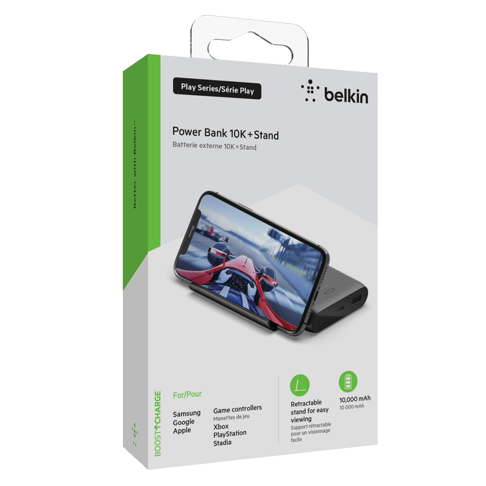 Wholesale cell phone accessory Belkin - Play Series Power Bank and Stand 10,000 mAh - Black