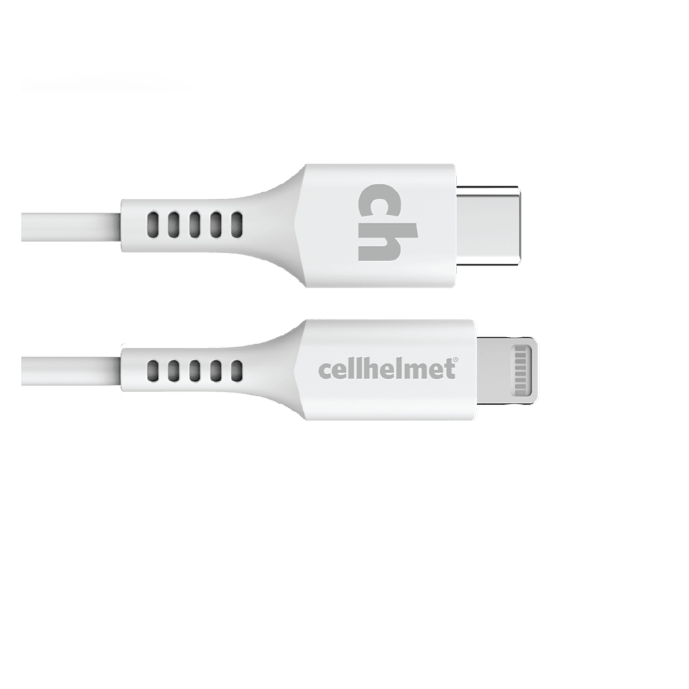 Wholesale cell phone accessory cellhelmet - USB C to Apple Lightning Cable 6ft - White