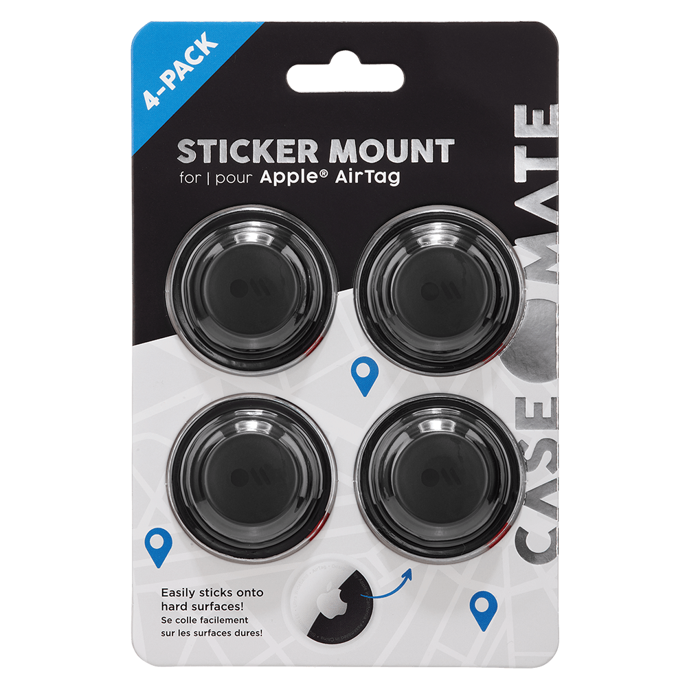 Wholesale cell phone accessory Case-Mate - 4 Pack of Sticker Mounts for Apple AirTag - Black