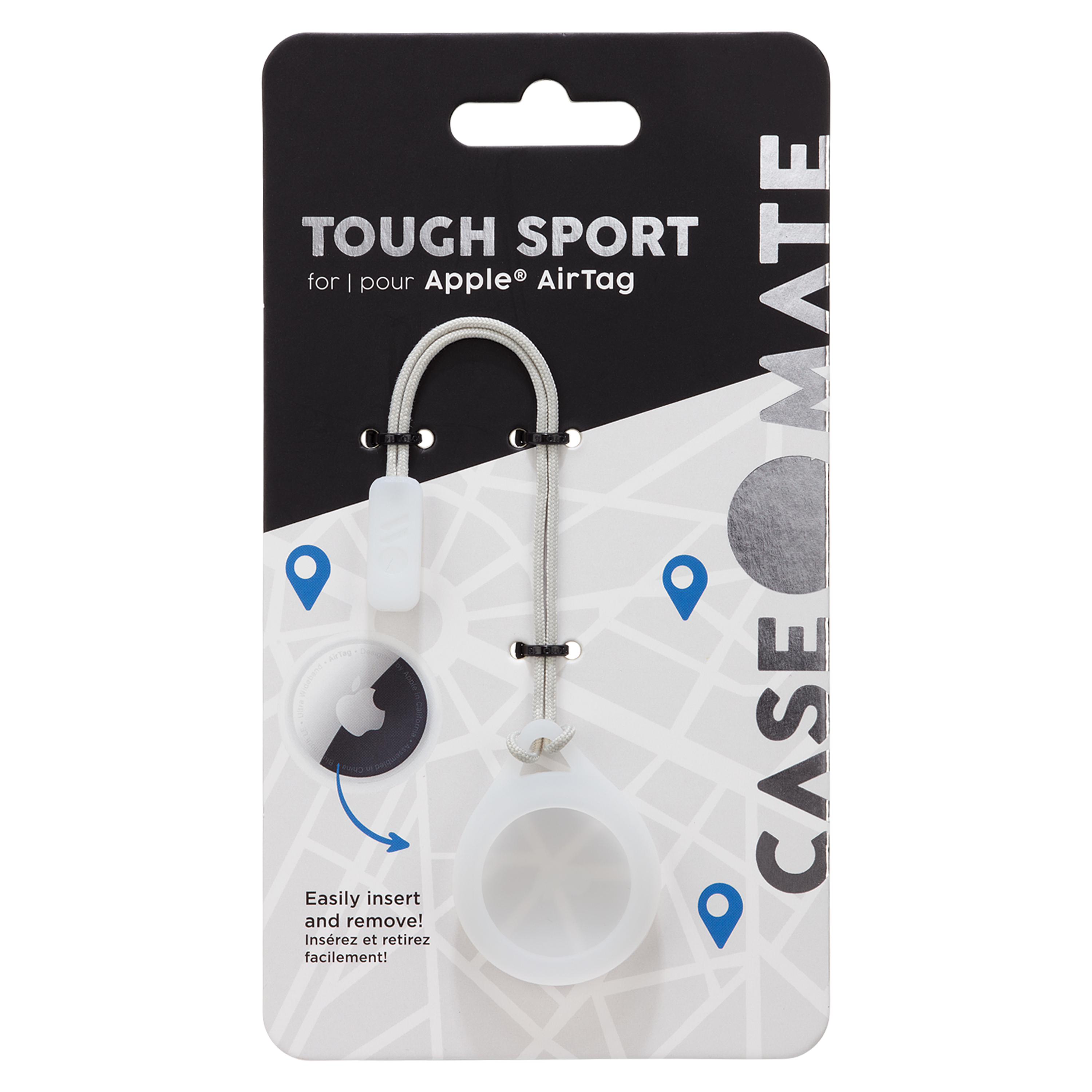 Wholesale cell phone accessory Case-Mate - Tough Sport Case for Apple AirTag - Clear