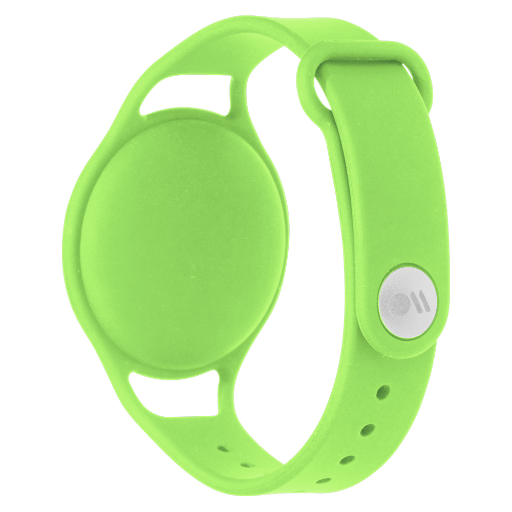 Wholesale cell phone accessory Case-Mate - Kids Bracelet Holder for Apple AirTag - Lime Green