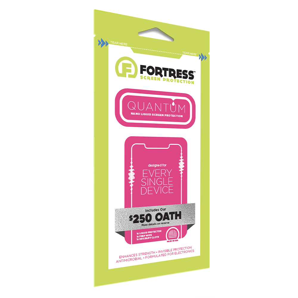 Wholesale cell phone accessory Fortress - Quantum $250 Oath Liquid Screen Protection - Clear