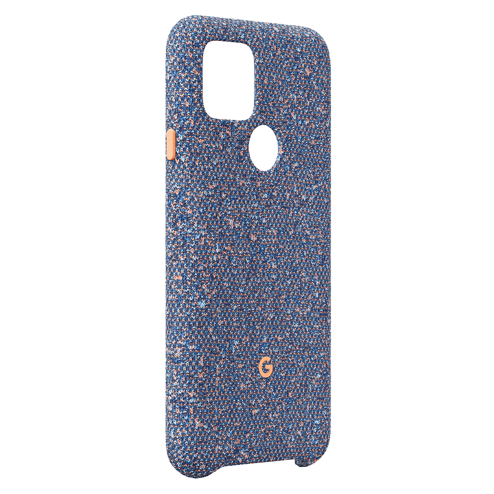 Wholesale cell phone accessory Google - Fabric Case for Google Pixel 5 - Blue Confetti