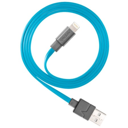 Wholesale cell phone accessory Ventev - chargesync USB A to Apple Lightning Cable 3.3ft - Blue