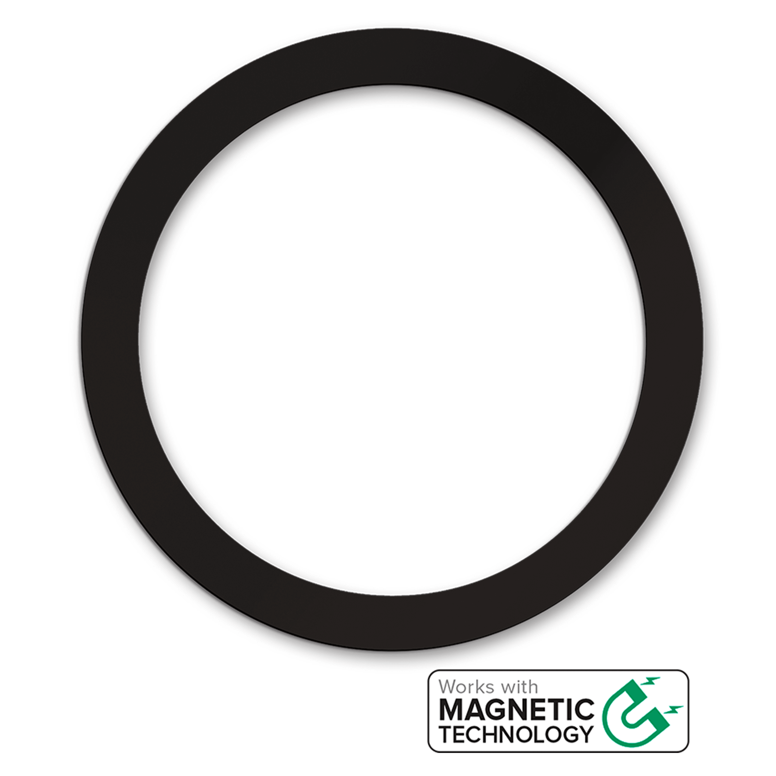 Wholesale cell phone accessory Qmadix - Magnetic Wireless Charger with Metal Ring 3 Pack -