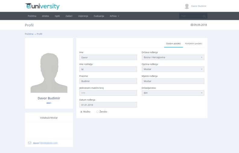Screenshot e-Vokabula platforme
