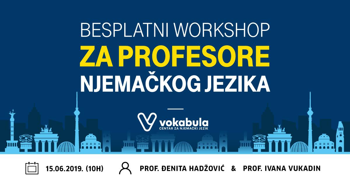 , Najavaljujemo besplatni workshop za profesore njemačkog jezika