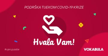Vokabula Naša podrška vama tijekom COVID-19
