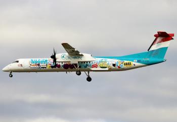 De Havilland Canada DHC-8-402Q Dash 8 Luxair by Lorenzo Fantoni