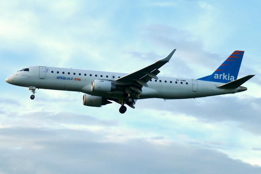 Arkia Israeli Airlines Embraer 190-100LR