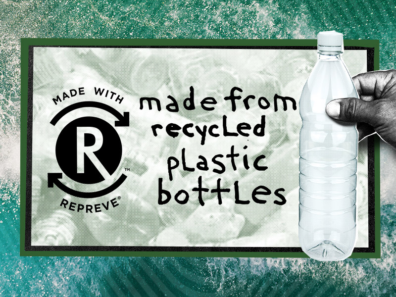repreve recycle bottles graphic