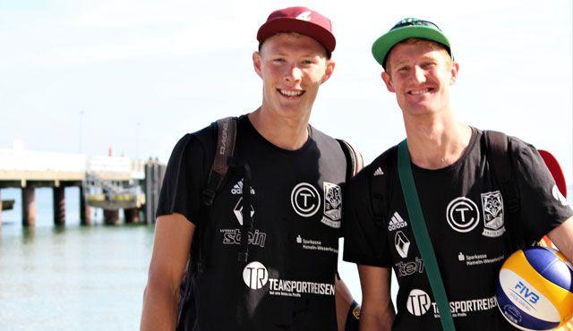 Geschafft: Philipp und Yannick sind Nationalteam Beach-Volleyball - Foto: KMB