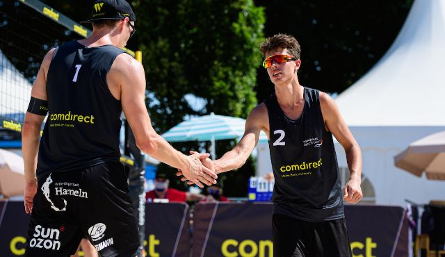 Beach Volleyball bei 50° C. auf dem Court beim TOP-Team Turnier in Düsseldorf - Foto: Conny Kurth / DVV