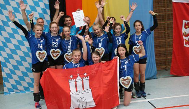 Platz 12 bei den Deutschen Meisterschaft für das U14 Team vom Volleyball-Team Hamburg - Foto: SportFoto/Helmut Keiling