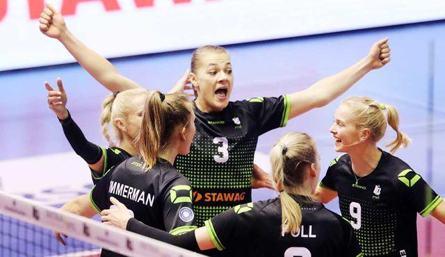 Ladies in Black empfangen den bisher ungeschlagenen Rekordmeister SSC Palmberg Schwerin - Ladies in Black Aachen\Andreas Steindl