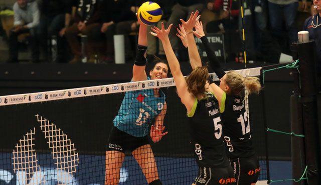 Die Wende ist nicht geglückt: VCW unterliegt im zweiten Playoff-Viertelfinale gegen Aachen - Foto: Detlef Gottwald
