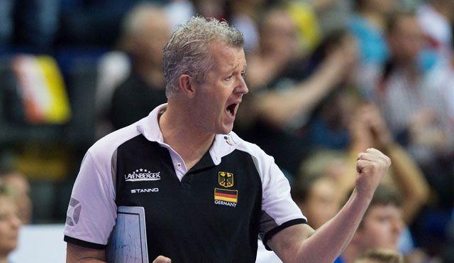 Nationalspieler und Heynen beim Volleyball Supercup! - Foto: DVV/Conny Kurth