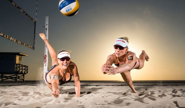 Das Beachvolleyball-Nationalteam Karla Borger/Britta Büthe auf dem Weg nach China - Foto: Red Bull Contentpool/ Fotograph: Garth Milan