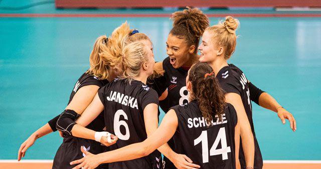SPORT1 überträgt das deutsche Achtelfinale bei der Volleyball-EM am Samstag live ab 16:25 Uhr im Free-TV - Foto: imago images/Newspix