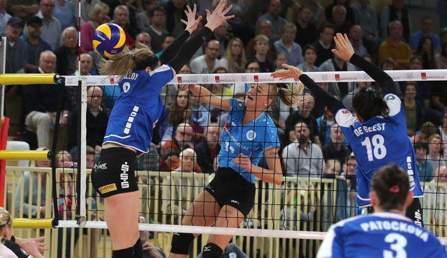VC Wiesbaden will ins Pokalhalbfinale einziehen - Foto: Detlef Gottwald
