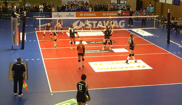 VC Wiesbaden bleibt auch in Aachen ohne Punktgewinn  - Foto: VCW