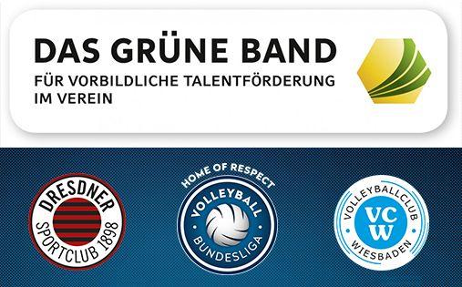 """DOSB verleiht VC Wiesbaden und Dresdner SC das """"Grüne Band"""" - Foto: DOSB/VBL"""