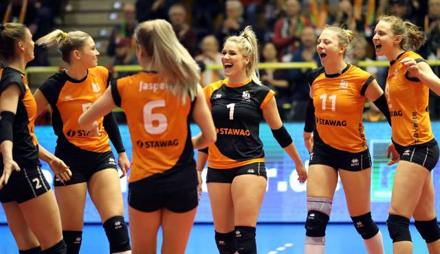 Aachen im CEV CUP Achtelfinale in Slowenien - Foto: Ladies in Black Aachen