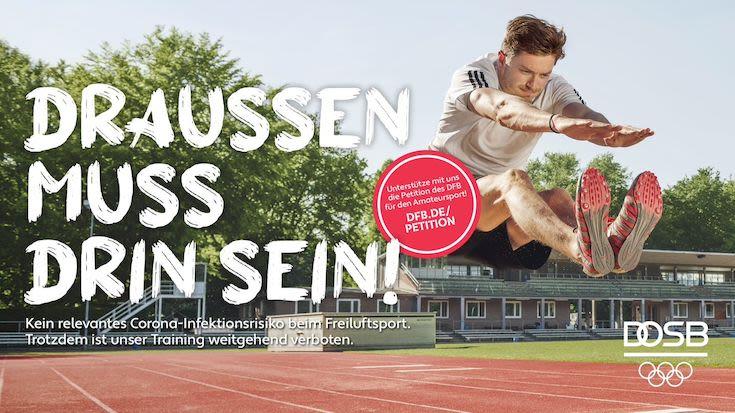 DFB und DOSB starten Kampagne und Petition für Amateursport - Foto: DOSB/DFB