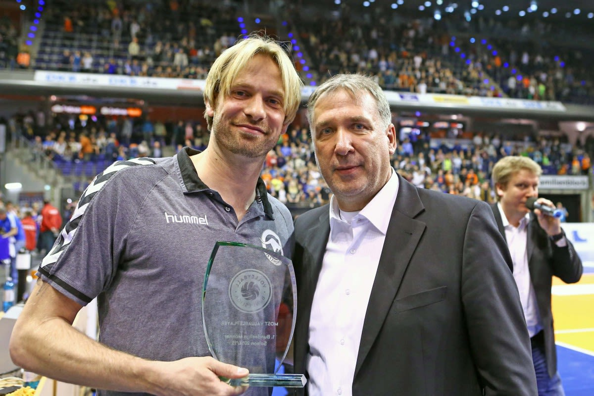 Netzhoppers-Kapitän Manuel Rieke ist MVP der Bundesliga - Foto: Eckard Herfet, www.foto-herfet.de