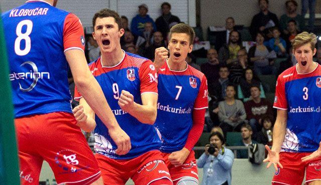 """Die Volleyball-WG bleibt """"Hoptsache""""  - Foto: Corinna Seibert/United Volleys"""