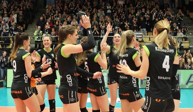 Halbfinalteilnahme für die Ladies in Black frühzeitig gesichert - Foto: Ladies in Black Aachen\\ Fotograf-Aachen.de