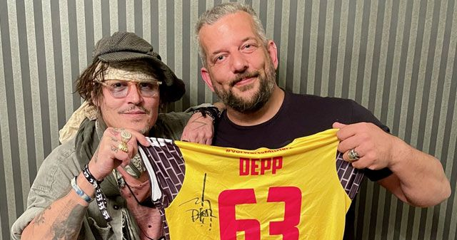 "Hollywood-Legende Johnny Depp unterstützt ""Suhler Wölfe"" - Foto: Johnny Depp: Alex Becker"