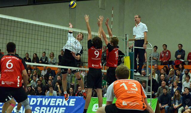 SSC-Volleyballer klettern auf Platz Zwei der Dritten Liga - Foto: volleyball-karlsruhe.de