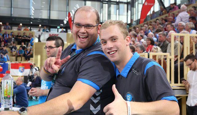 Abschied als VCW-Hallensprecher: Till Pörner übergibt an Daniel Schmidt - Foto: Detlef Gottwald
