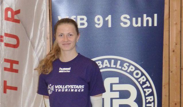 Neu bei den VolleyStars: Dominika Drobnakova - Foto: Sebastian Leipold, VolleyStars Thüringen