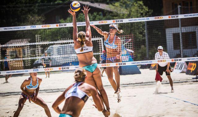 Fünf Frauen-Duos im Hauptfeld - Major Turnier in Gstaad vom 7. - 12. Juli - Foto: FiVB