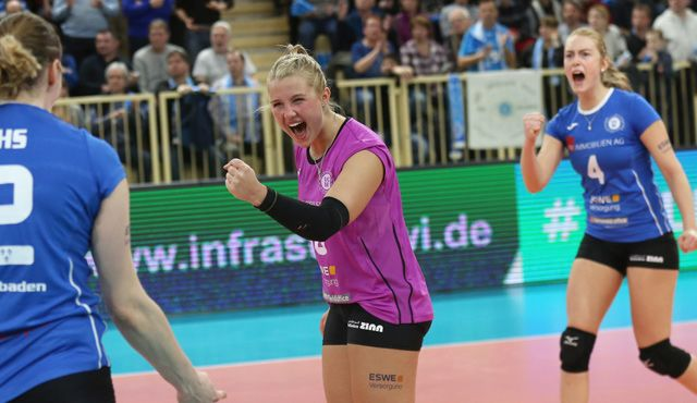 Saisonendspurt beginnt gegen Erfurt: VC Wiesbaden will in die Playoffs - Foto: Detlef Gottwald