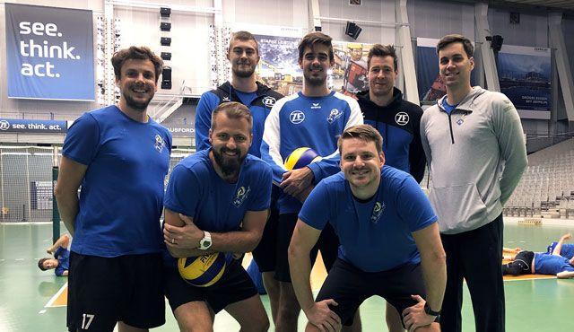Trainingsauftakt bei den Häfler Volleyballern  - Foto: Günther Kram