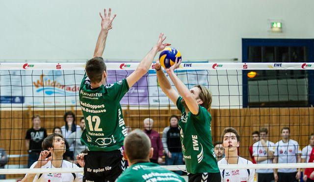 Netzhoppers empfangen Rekordteam vom VFB Friedrichshafen - Foto: Gerold Rebsch